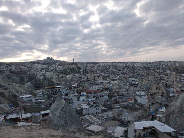 The town of Göreme in Cappadocia, Turkey