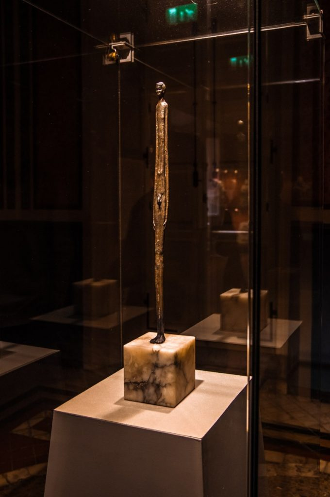 Statue in Etruscan Museum in Volterra