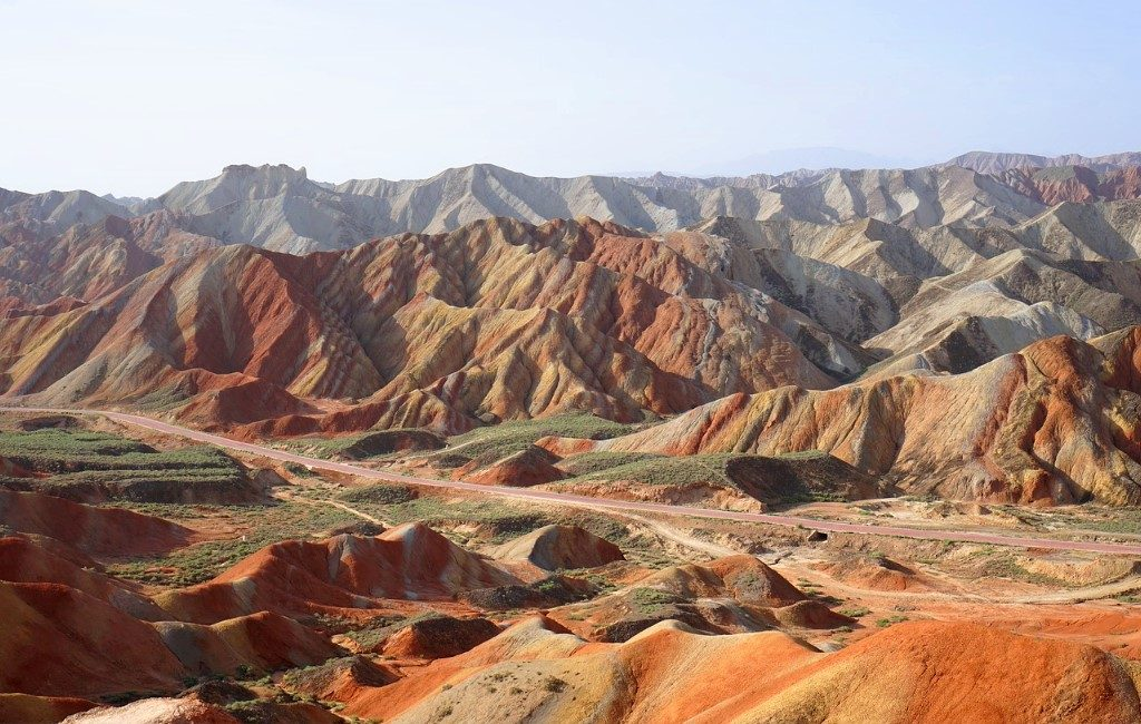 Zhangye Danxia Mountains in China