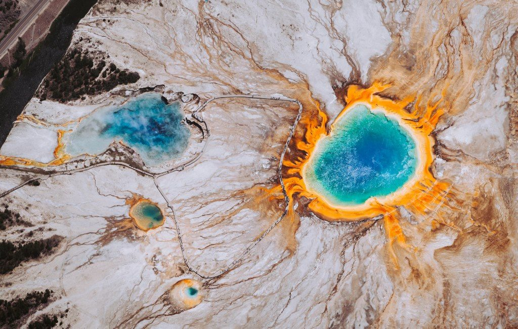 The Grand Prismatic in Yellowstone (bird's eye view)