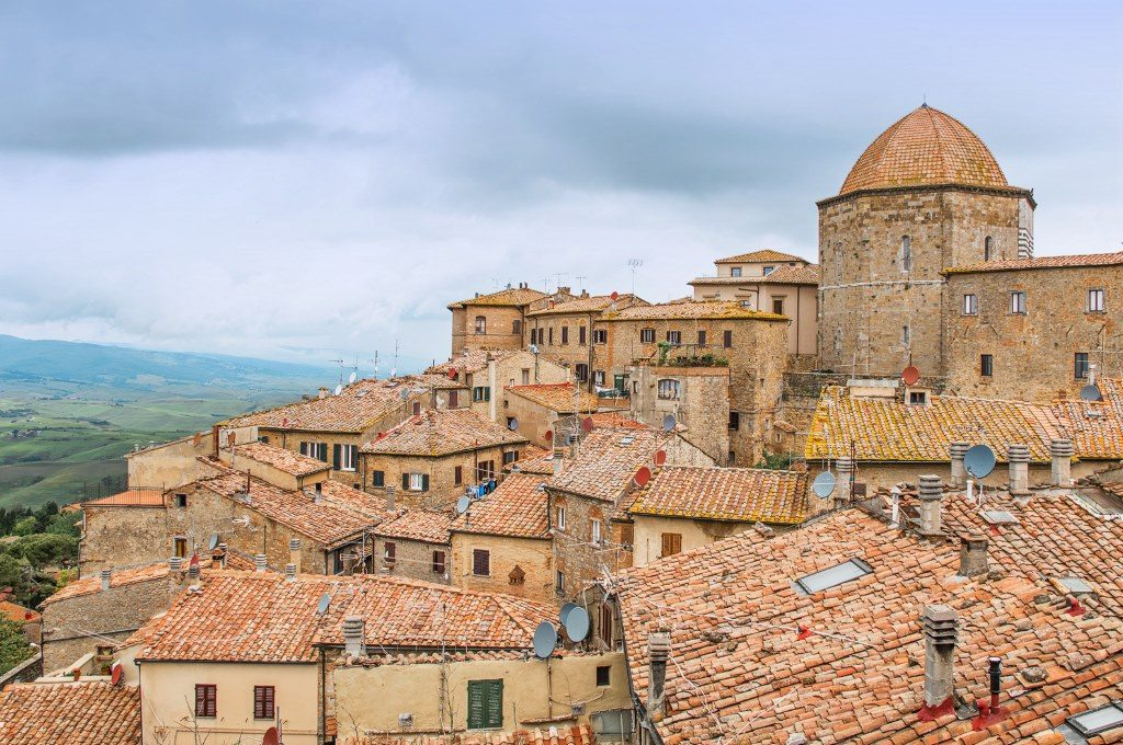 View of Volterra, a historic town in Tuscany with ancient Etruscan and Roman history