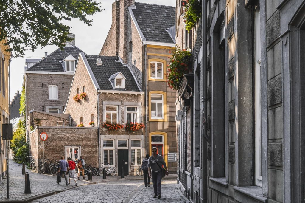 A historic street in the Dutch city of Maastricht