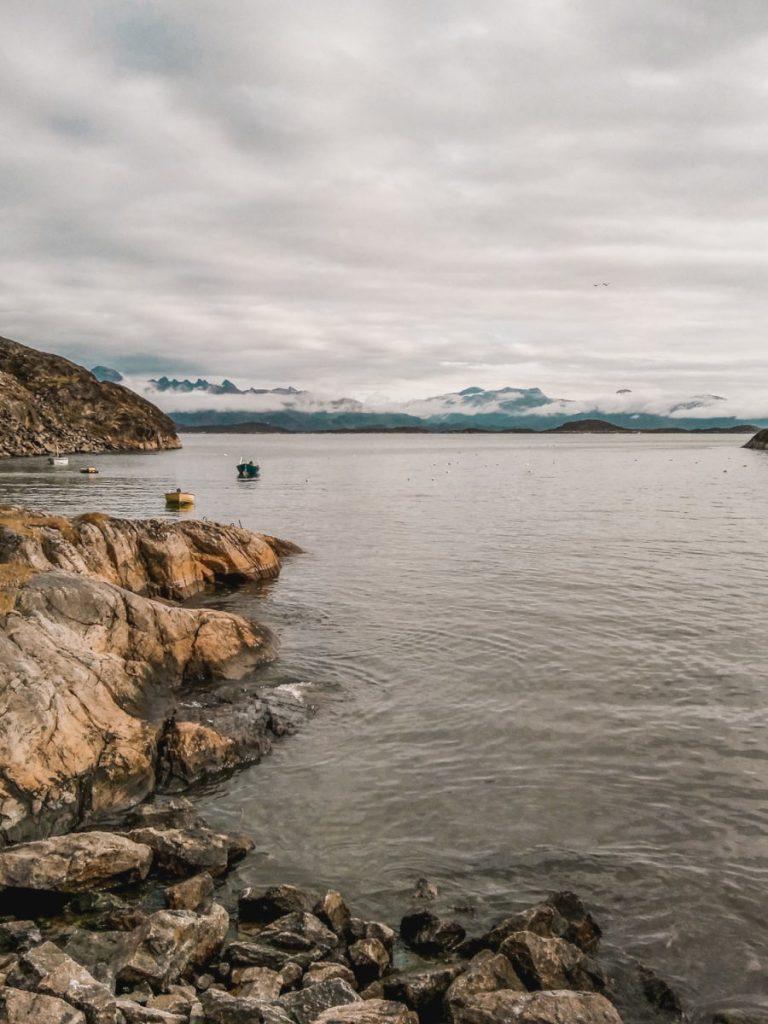 The coast of Greenland, near Maniitsoq