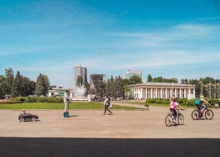 Summer fun in the Soviet-era VDNH exhibition center