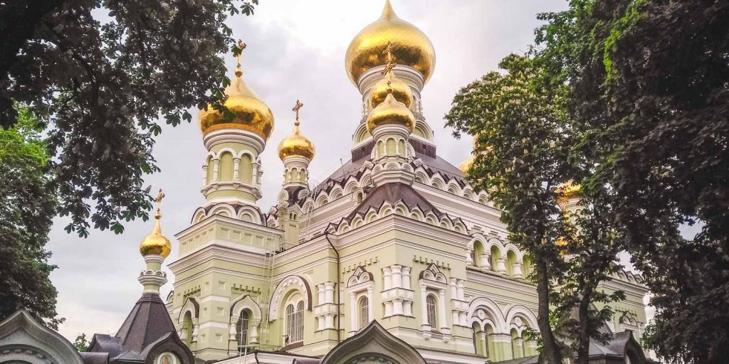 An honest city guide for Kyiv: this is the St Pokrovsky Monastery pictured