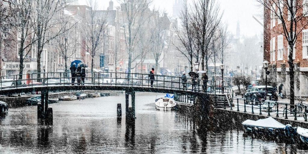 A grey winter day in Amsterdam